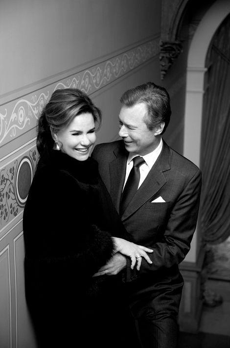 La grande-duchesse Maria Teresa de Luxembourg avec son mari le grand-duc Henri