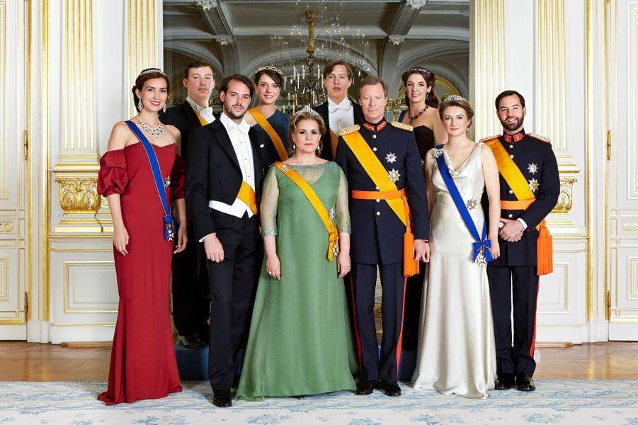 La grande-duchesse Maria Teresa de Luxembourg et sa famille