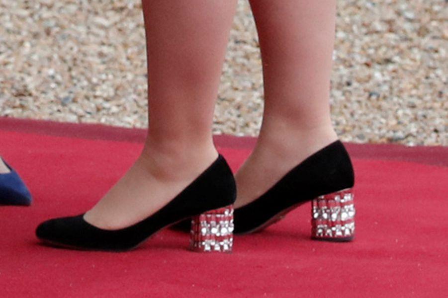 Les souliers de la grande-duchesse Maria Teresa de Luxembourg à Paris, le 19 mars 2018