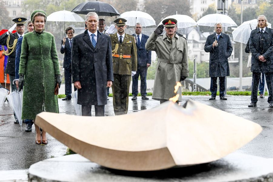 La reine Mathilde et le roi des Belges Philippe à Luxembourg, le 15 octobre 2019