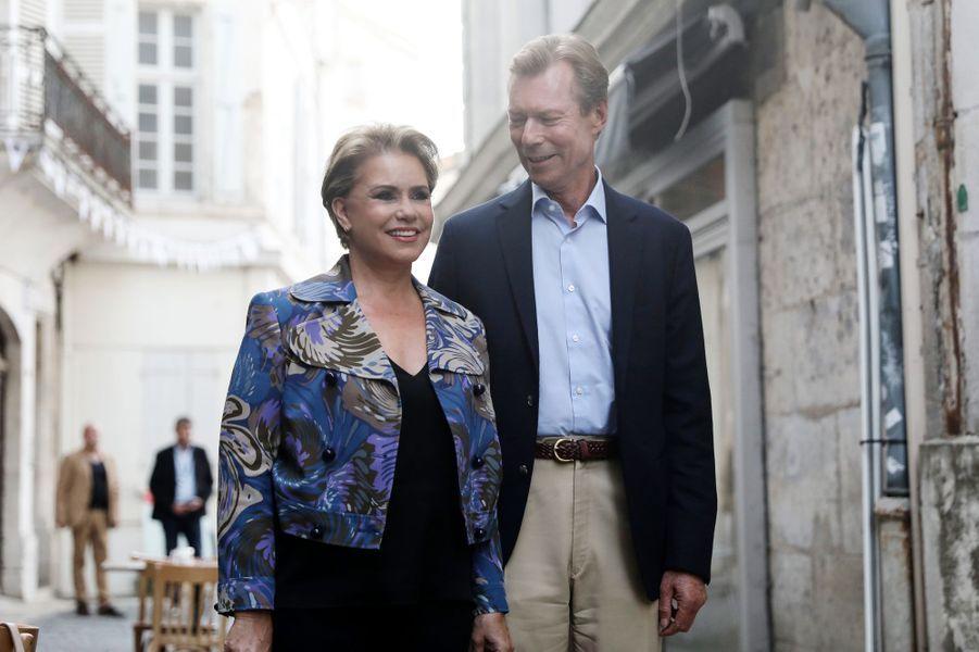 La grande-duchesse Maria Teresa et le grand-duc Henri de Luxembourg à Angoulême, le 23 août 2019