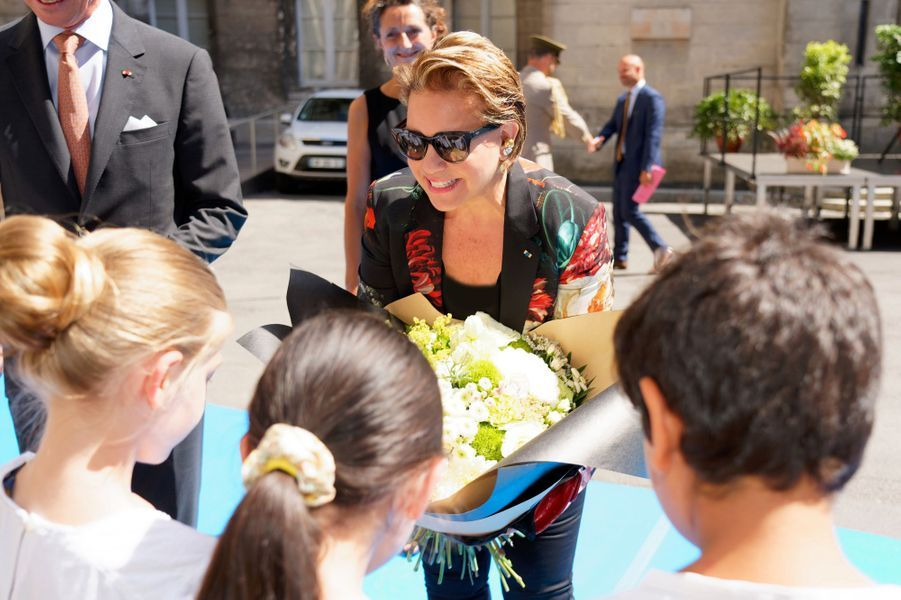 La grande-duchesse Maria Teresa de Luxembourg à Angoulême, le 24 août 2019