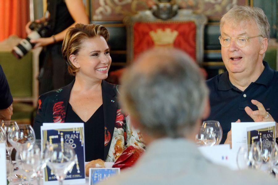 La grande-duchesse Maria Teresa de Luxembourg avec Dominique Besnehard à Angoulême, le 24 août 2019