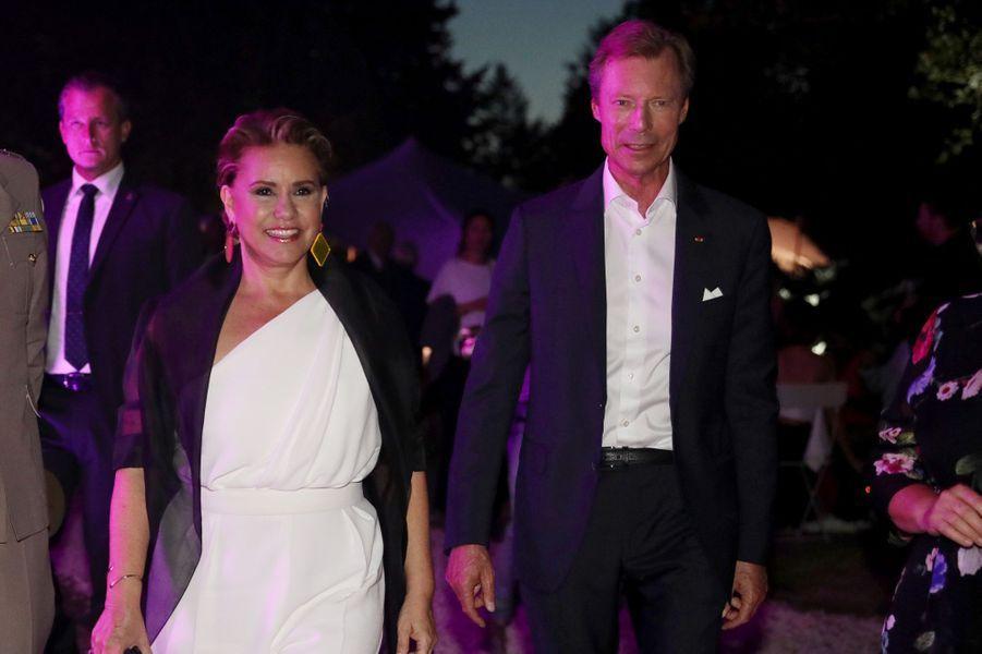 La grande-duchesse Maria Teresa et le grand-duc Henri de Luxembourg à Angoulême, le 24 août 2019