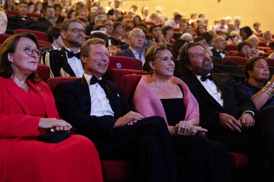 La grande-duchesse Maria Teresa et le grand-duc Henri de Luxembourg à Angoulême, le 25 août 2019