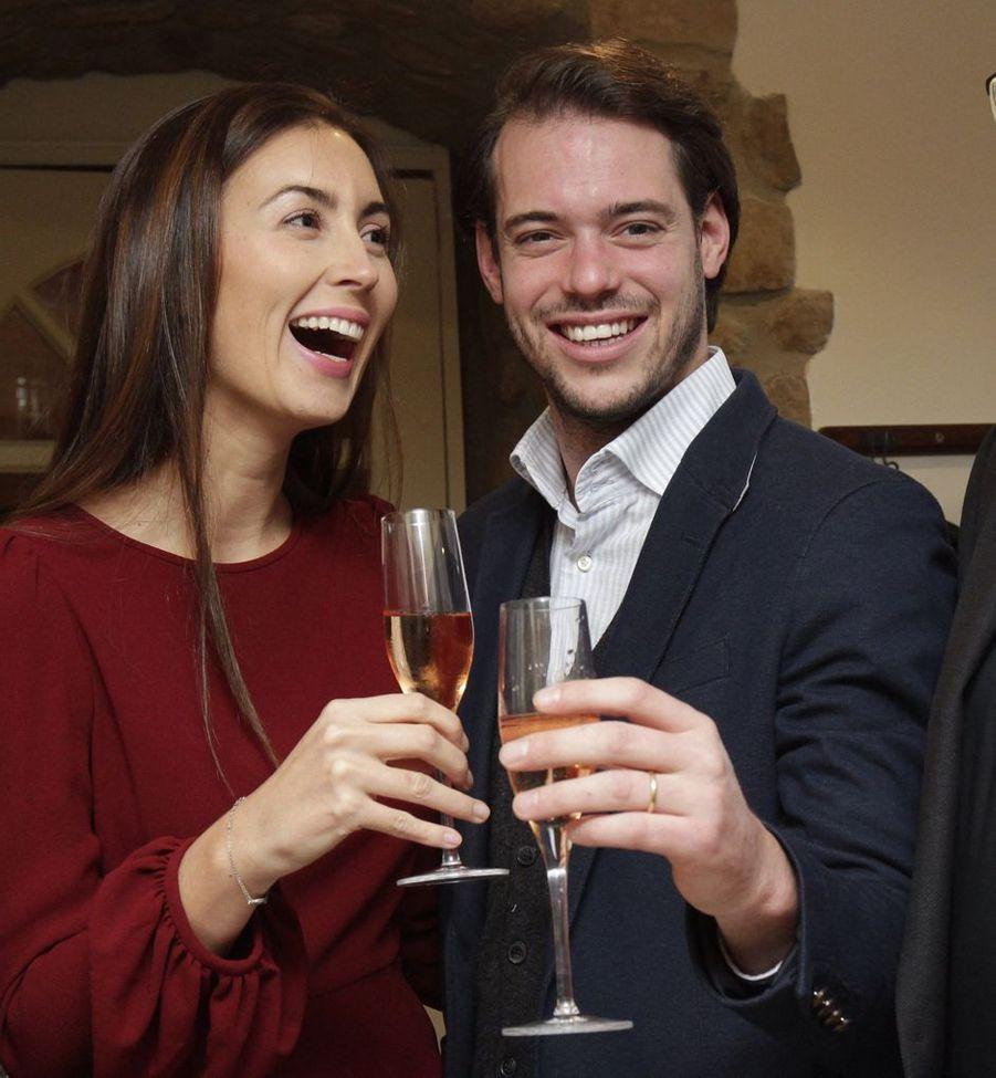 La princesse Claire avec son époux le prince Félix de Luxembourg, le 27 novembre 2013