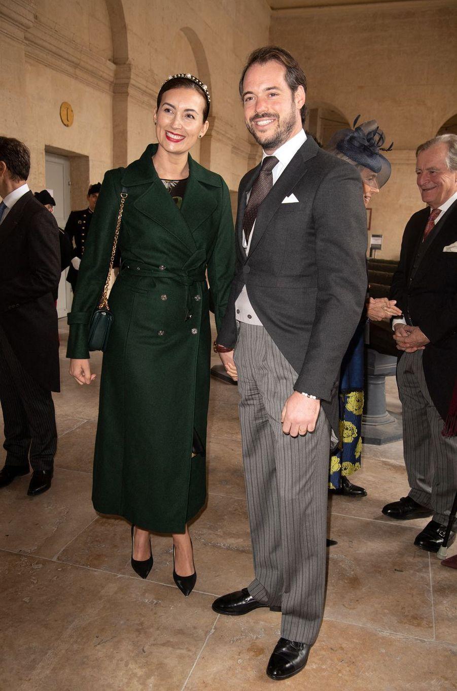 La princesse Claire avec son époux le prince Félix de Luxembourg, le 19 octobre 2019