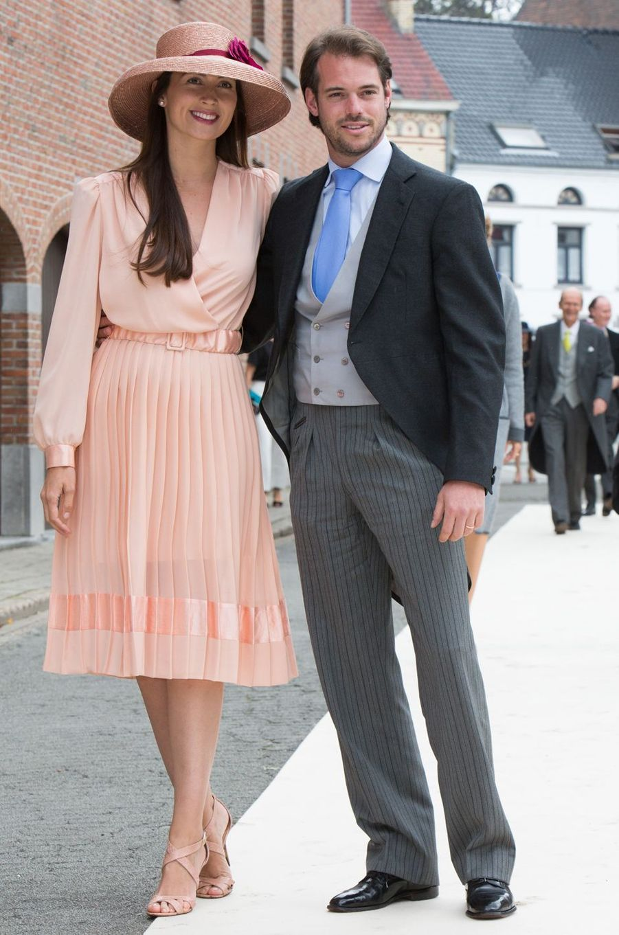 La princesse Claire avec son époux le prince Félix de Luxembourg, le 18 juin 2016