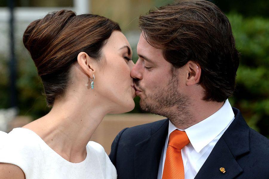 Claire Lademacher et le prince Félix de Luxembourg, le jour de leur mariage civil, le 17 septembre 2013