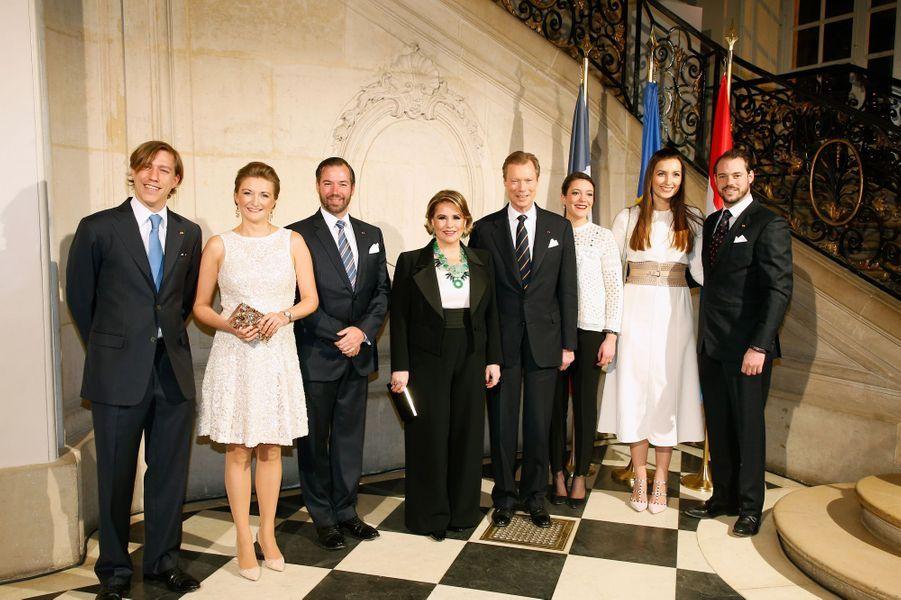 La princesse Claire et le prince Félix avec la famille grand-ducale de Luxembourg, le 20 mars 2018