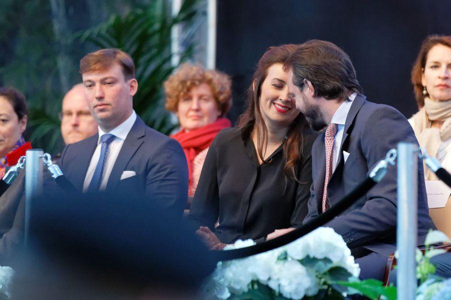 La princesse Claire et le prince Félix de Luxembourg avec le prince Sébastien, le 22 juin 2018