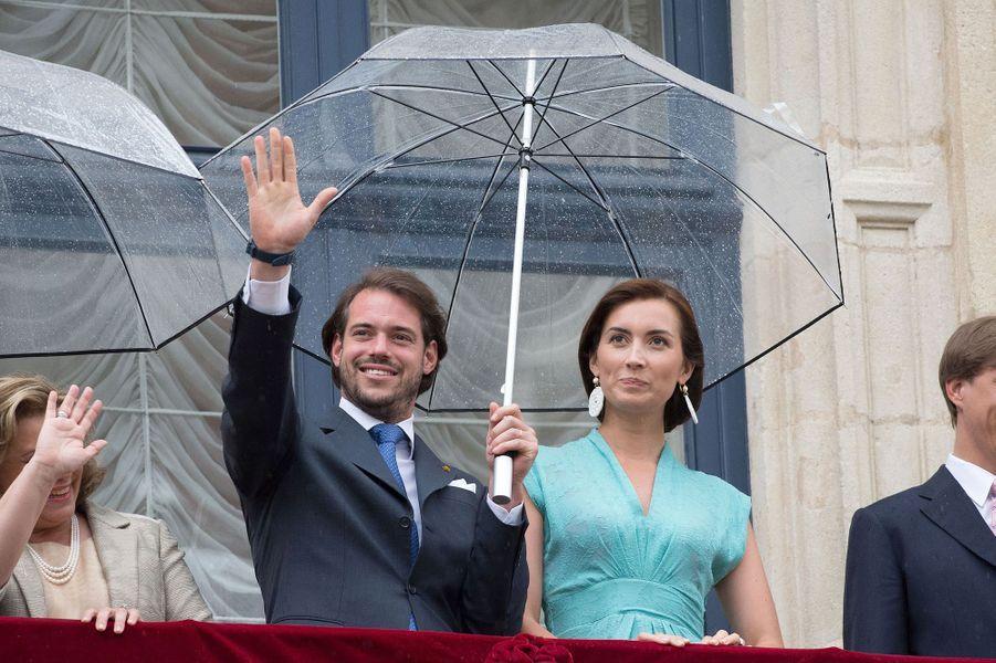 La princesse Claire et le prince Félix de Luxembourg, le 22 juin 2015