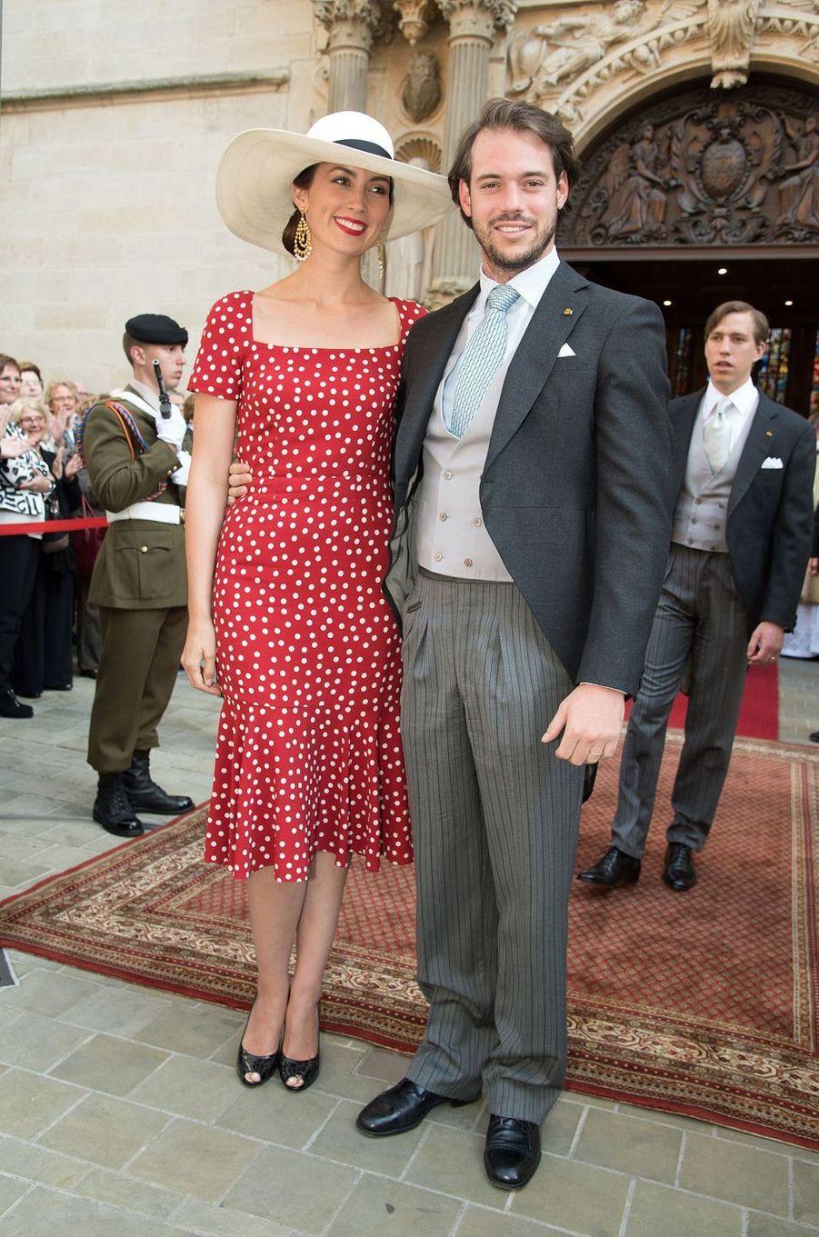 La princesse Claire et le prince Félix de Luxembourg, le 23 juin 2015
