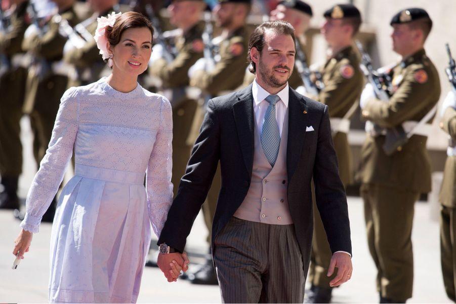 La princesse Claire et le prince Félix de Luxembourg, le 24 juin 2016