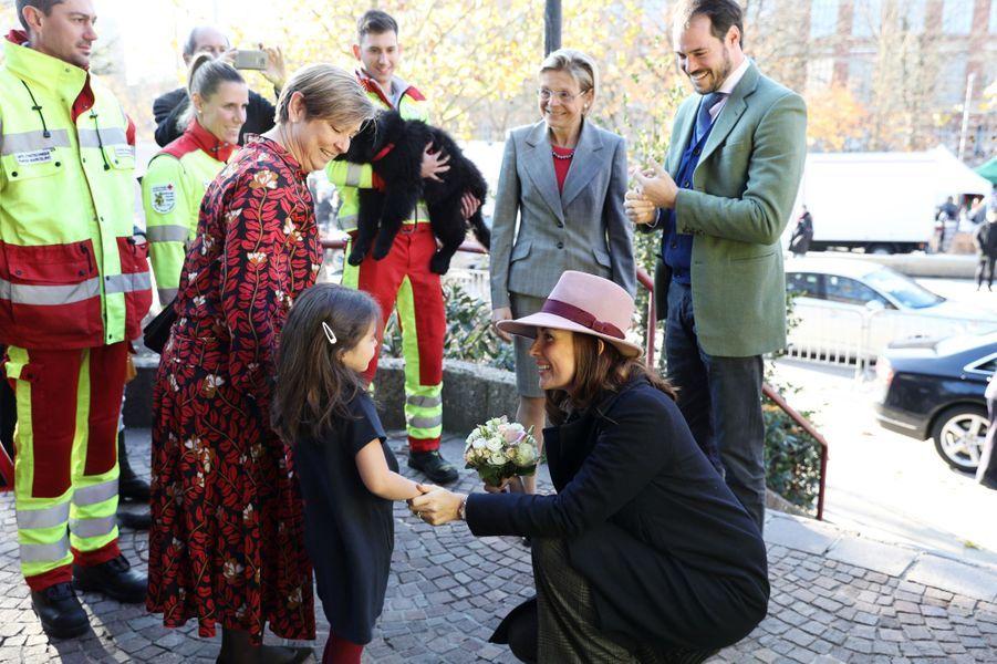 La princesse Claire et le prince Félix de Luxembourg à Luxembourg, le 18 novembre 2018