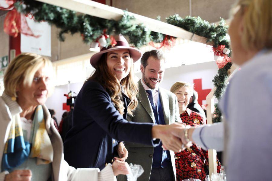 La princesse Claire et le prince Félix de Luxembourg au Bazar de la Croix-Rouge, le 18 novembre 2018 à Luxembourg