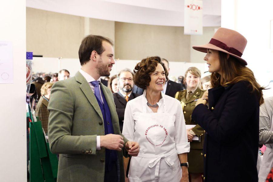 Le prince Félix de Luxembourg et la princesse Claire au Bazar de la Croix-Rouge à Luxembourg, le 18 novembre 2018