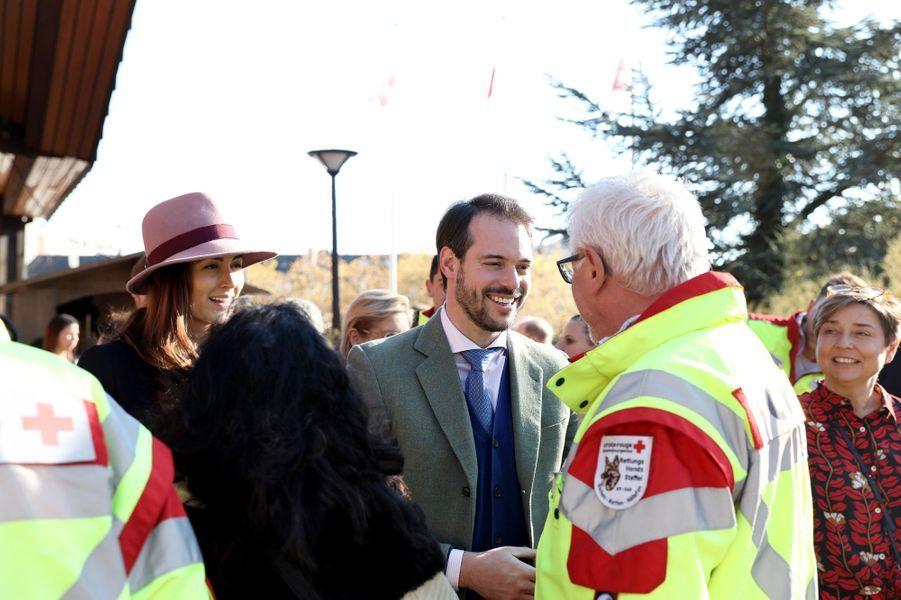 La princesse Claire et le prince Félix de Luxembourg, le 18 novembre 2018 à Luxembourg