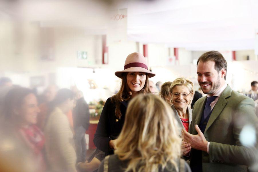 La princesse Claire et le prince Félix de Luxembourg au Bazar de la Croix-Rouge à Luxembourg, le 18 novembre 2018