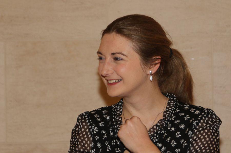 La princesse Stéphanie de Luxembourg au Mudam à Luxembourg, le 9 février 2017