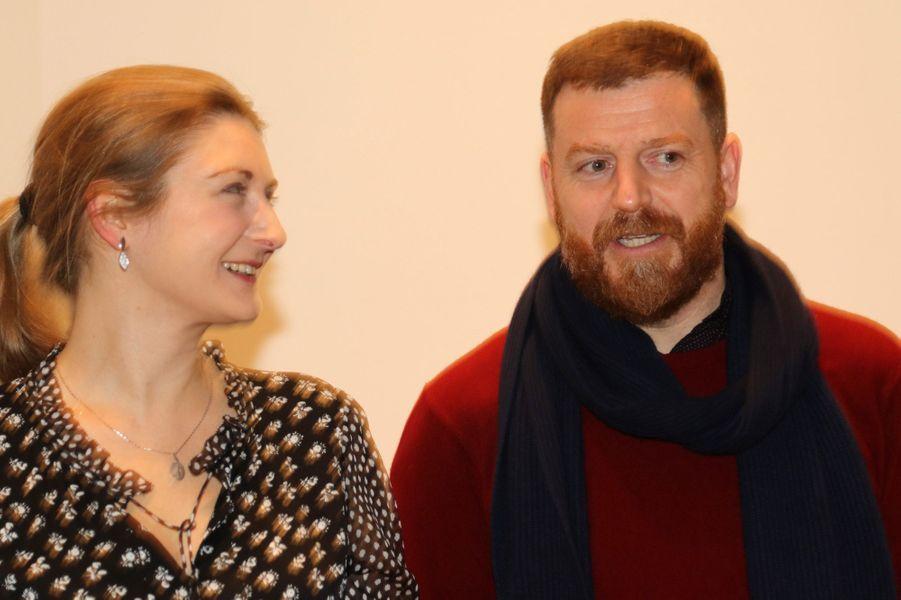 La princesse Stéphanie de Luxembourg avec Darren Almond au Mudam à Luxembourg, le 9 février 2017