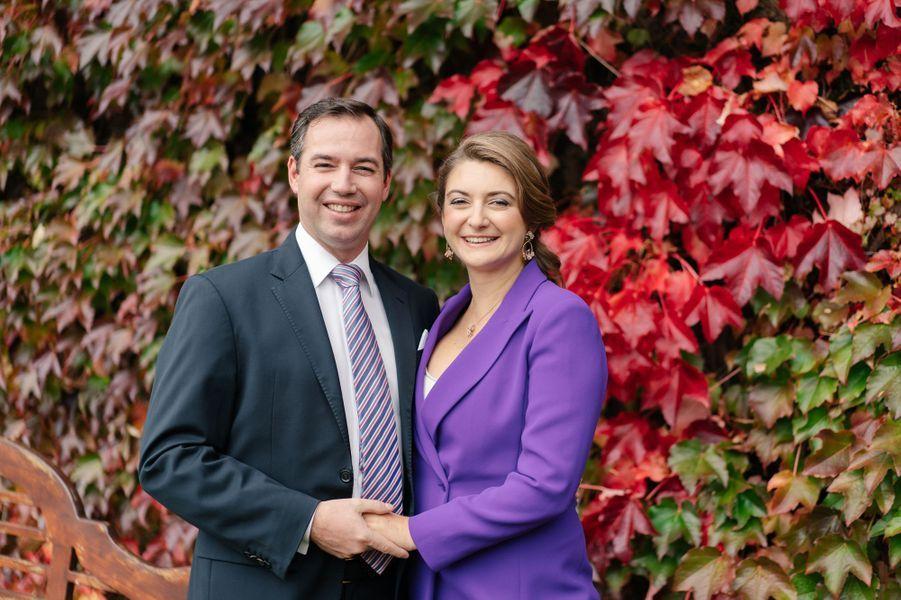 La princesse Stéphanie et le prince Guillaume de Luxembourg. Photo diffusée le 6 décembre 2019