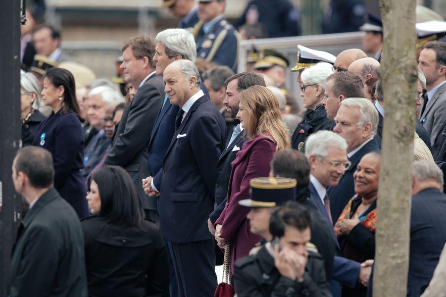 La princesse Stéphanie et le prince Guillaume de Luxembourg à Paris, le 8 mai 2015