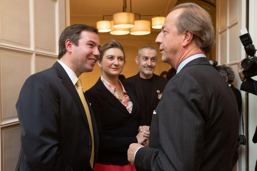 Le grand-duc héritier Guillaume de Luxembourg et la grande-duchesse Stéphanie à Luxembourg, le 28 novembre 2018