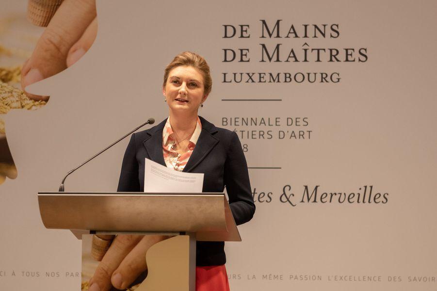 La princesse Stéphanie de Luxembourg à Luxembourg, le 28 novembre 2018
