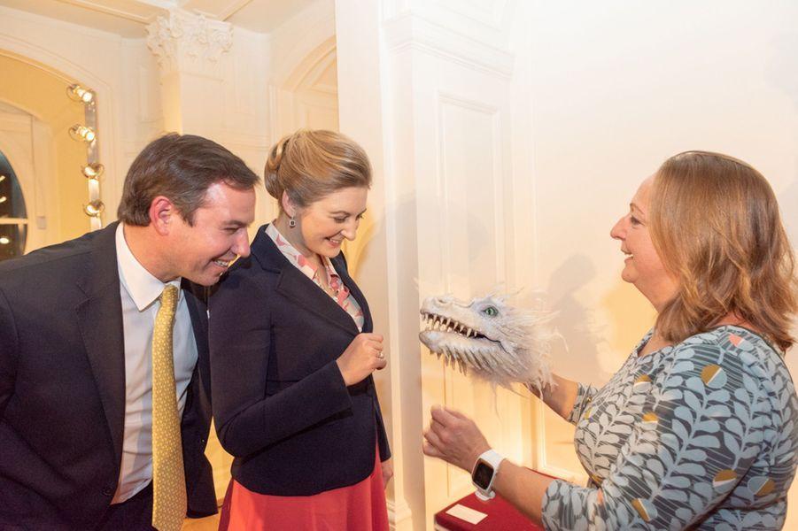 La princesse Stéphanie et le prince Guillaume de Luxembourg à Luxembourg, le 28 novembre 2018