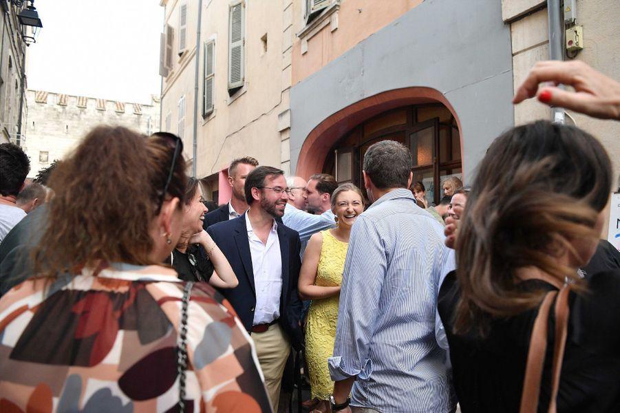 La princesse Stéphanie et le prince Guillaume de Luxembourg à Arles pour les Rencontres de la photographie, le 7 juillet 2017