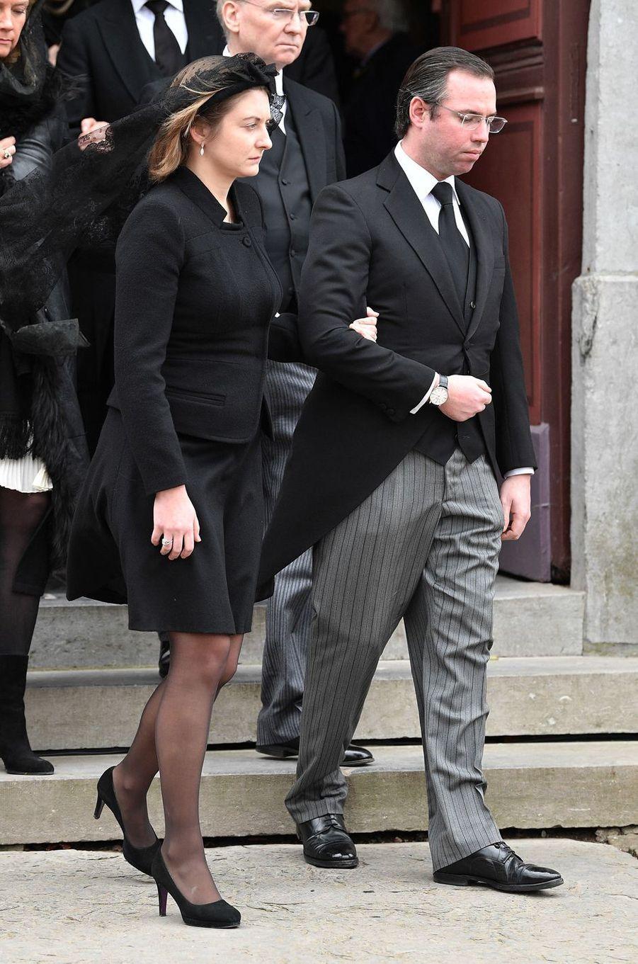 La princesse Stéphanie et le prince Guillaume de Luxembourg, à Anvaing le 16 janvier 2019