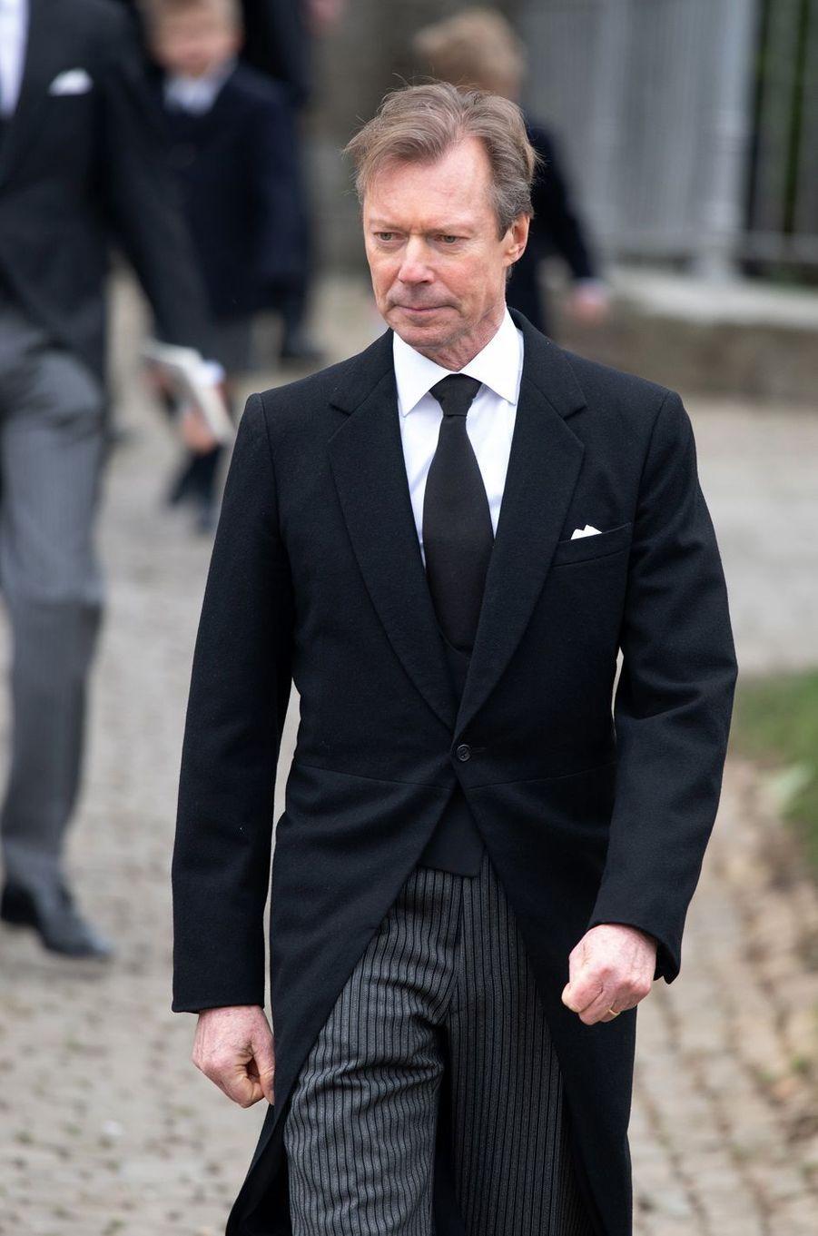 Le grand-duc Henri de Luxembourg à Anvaing, le 16 janvier 2019