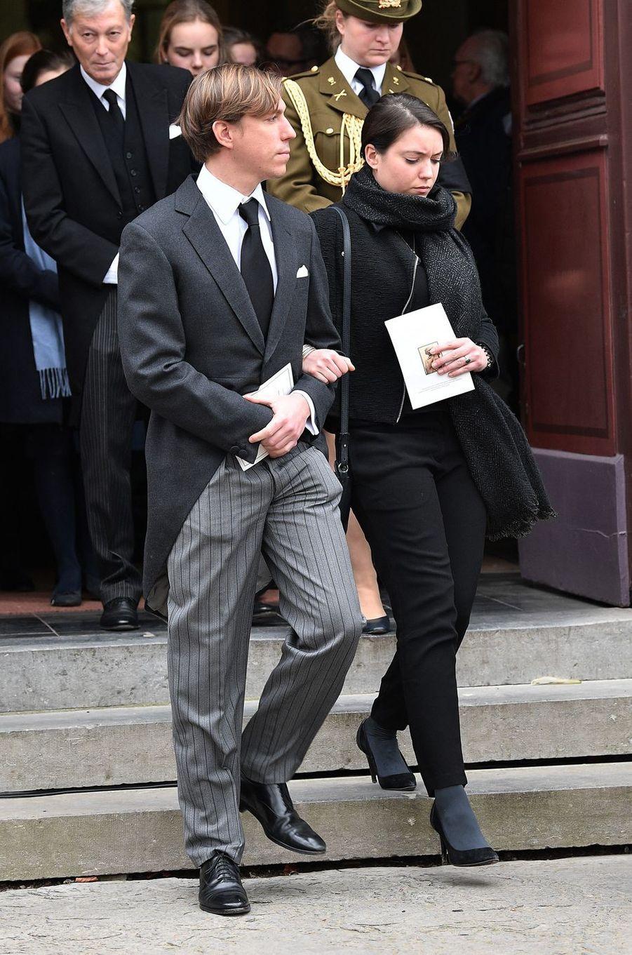 La princesse Alexandra et le prince Louis de Luxembourg à Anvaing, le 16 janvier 2019