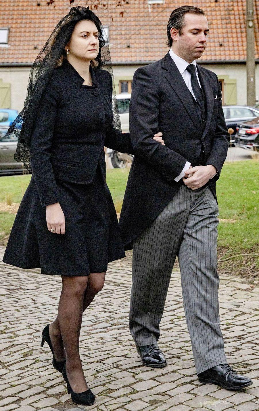 La princesse Stéphanie et son mari le prince Guillaume de Luxembourg, à Anvaing le 16 janvier 2019