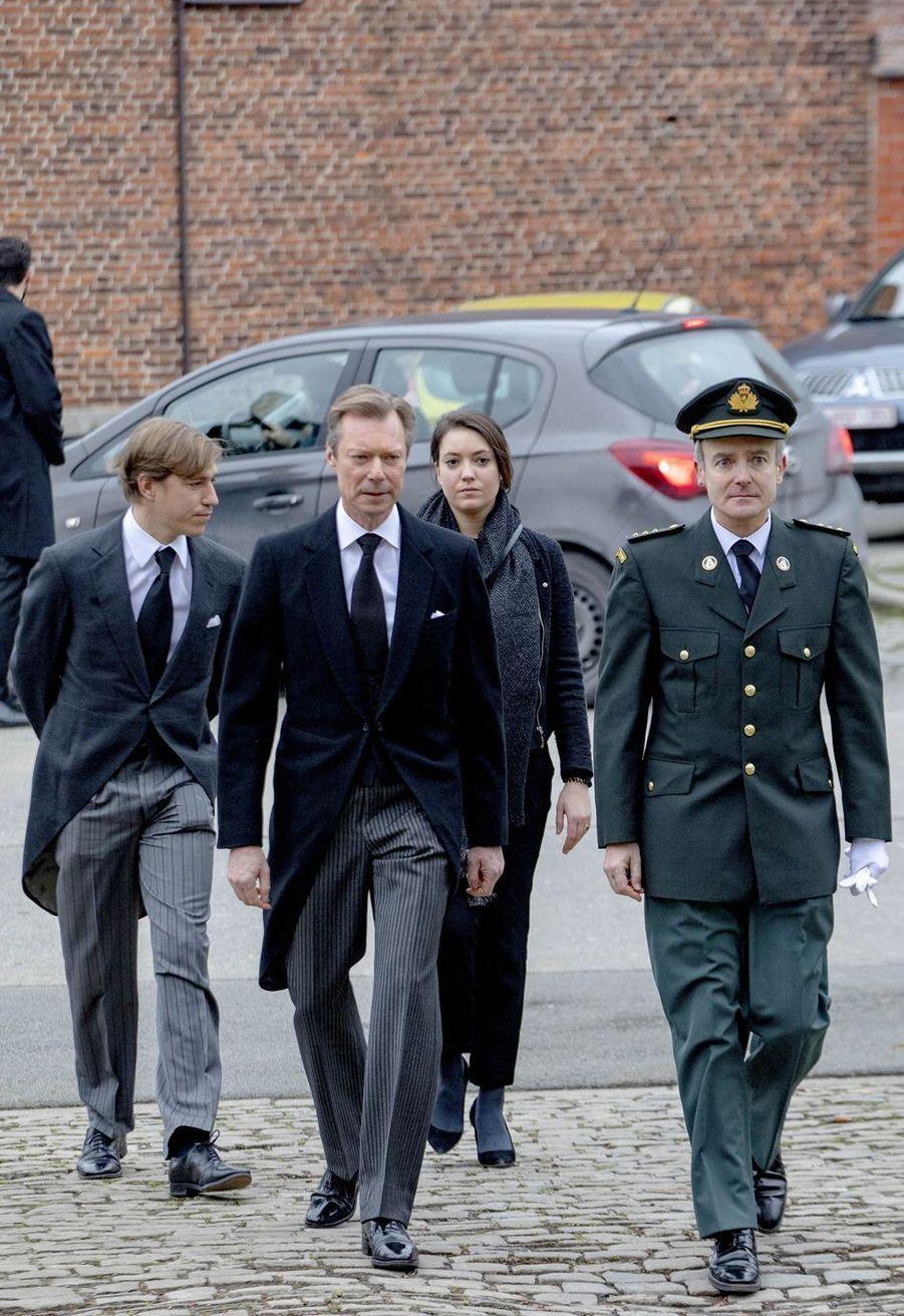 Le grand-duc Henri, la princesse Alexandra et le prince Louis de Luxembourg à Anvaing, le 16 janvier 2019