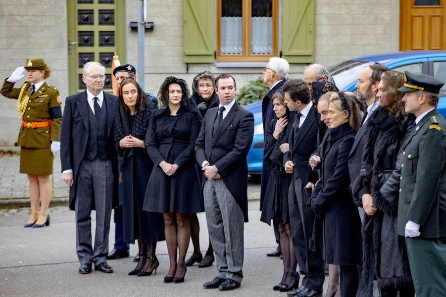 Funérailles du comte Philippe de Lannoy, père de la princesse Stéphanie de Luxembourg, à Anvaing le 16 janvier 2019