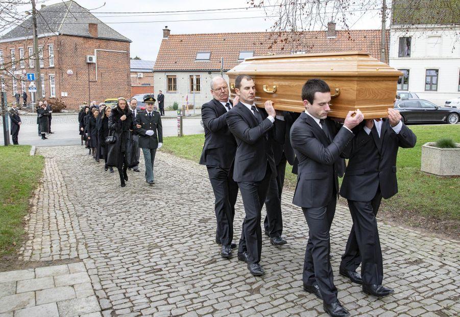 Funérailles du comte de Lannoy, père de la princesse Stéphanie de Luxembourg, à Anvaing le 16 janvier 2019