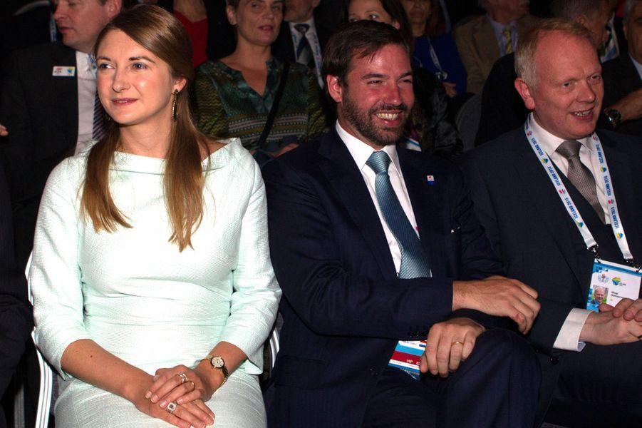 Le prince Guillaume et la princesse Stéphanie de Luxembourg à Reykjavik, le 1er juin 2015