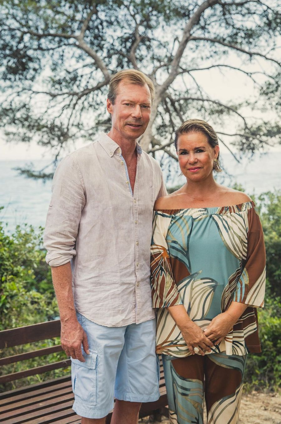 Le grand-duc Henri de Luxembourg et la grande-duchesse Maria Teresa en vacances à Cabasson. Photo diffusée le 8 août 2018