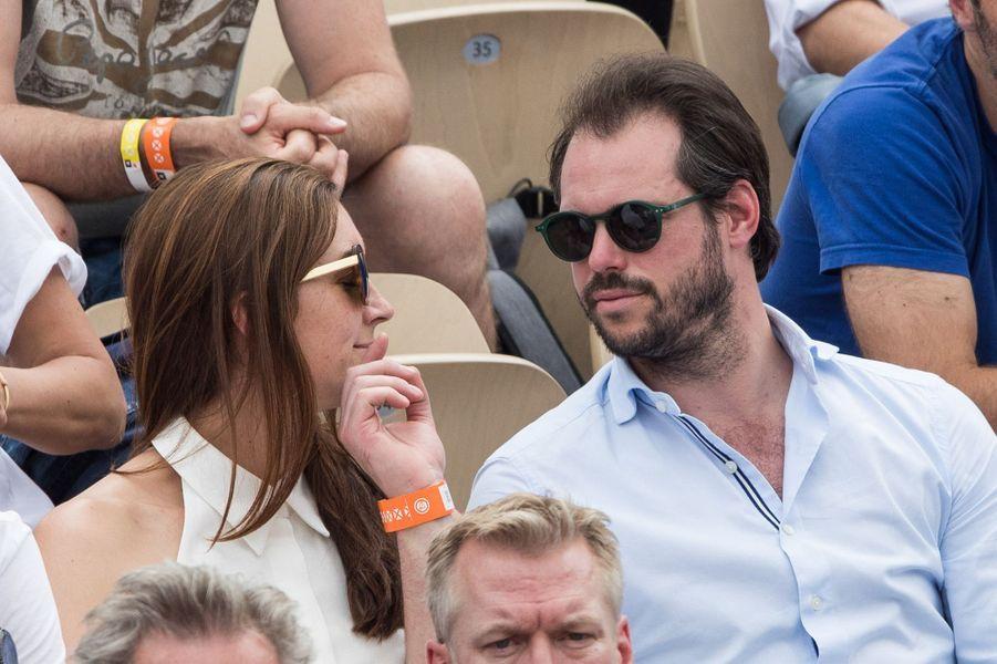 Le prince Félix de Luxembourg et sa femme la princesse Claire à Roland-Garros à Paris, le 4 juin 2019