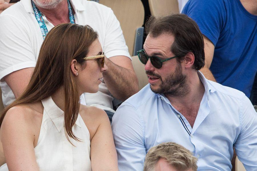 Le prince Félix de Luxembourg et la princesse Claire à Roland-Garros à Paris, le 4 juin 2019
