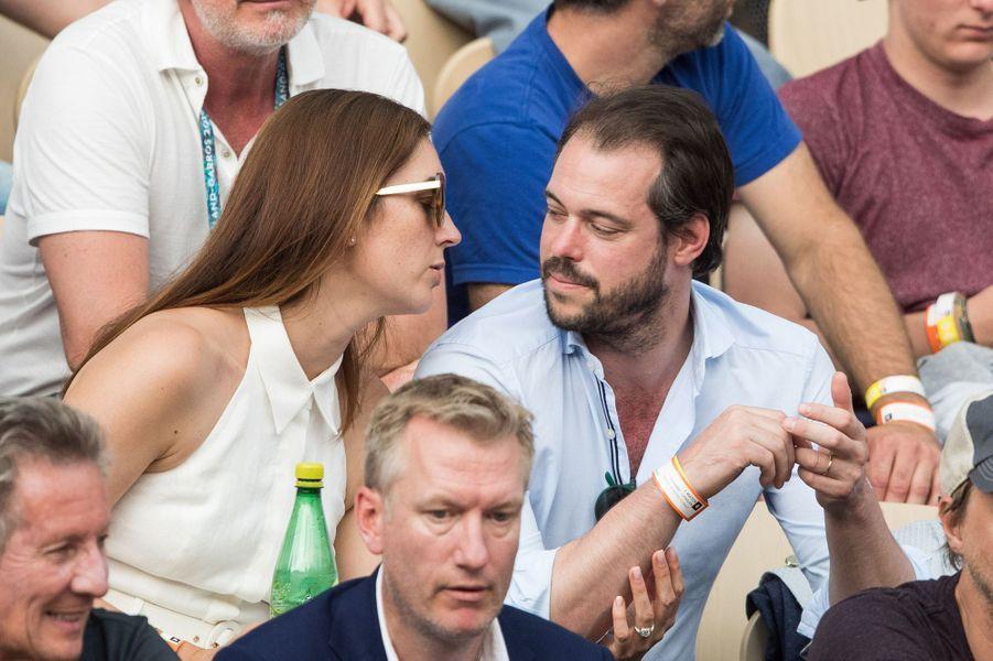 La princesse Claire et le prince Félix de Luxembourg à Roland-Garros à Paris, le 4 juin 2019