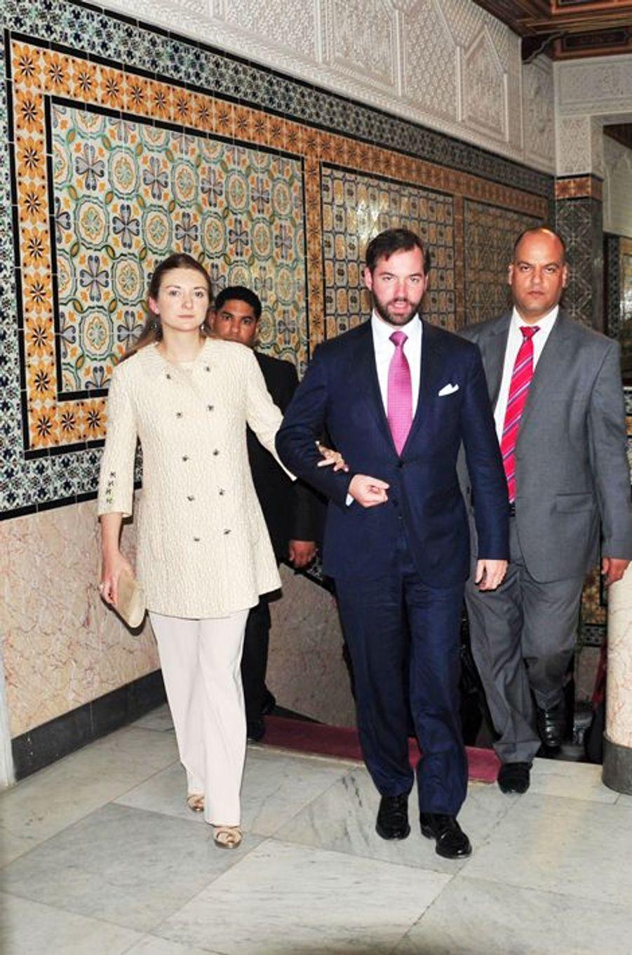 La princesse Stéphanie et le prince Guillaume de Luxembourg à Tunis, le 29 avril 2015