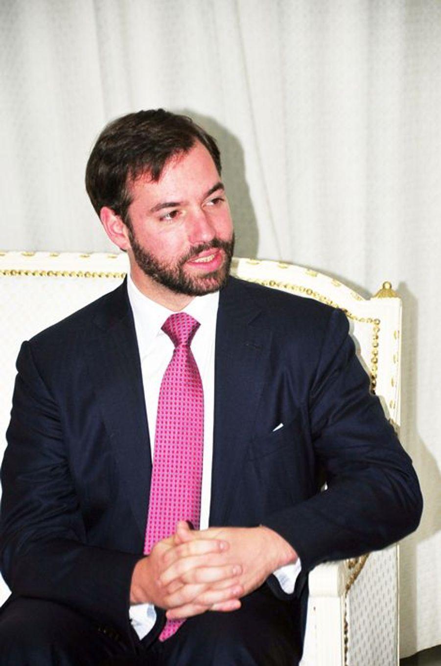 Le prince Guillaume de Luxembourg à Tunis, le 29 avril 2015