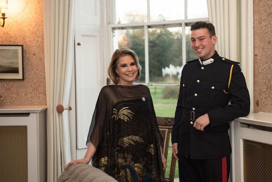 Leurs Altesses Royales le Prince Sébastien, la Grande-Duchesse à l'Académie royale militaire de Sandhurst.
