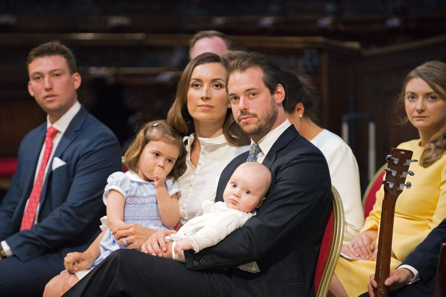 Baptême du prince Liam de Luxembourg au Vatican, le 22 avril 2017