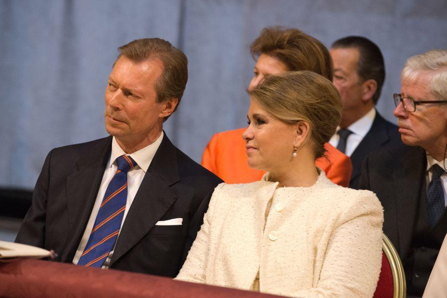 Le grand-duc Henri et la grande-duchesse Maria Teresa de Luxembourg au Vatican, le 22 avril 2017