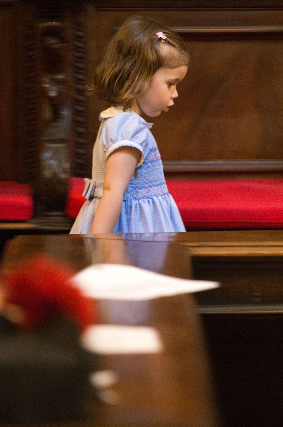 La princesse Amalia a de Luxembourg au Vatican, le 22 avril 2017