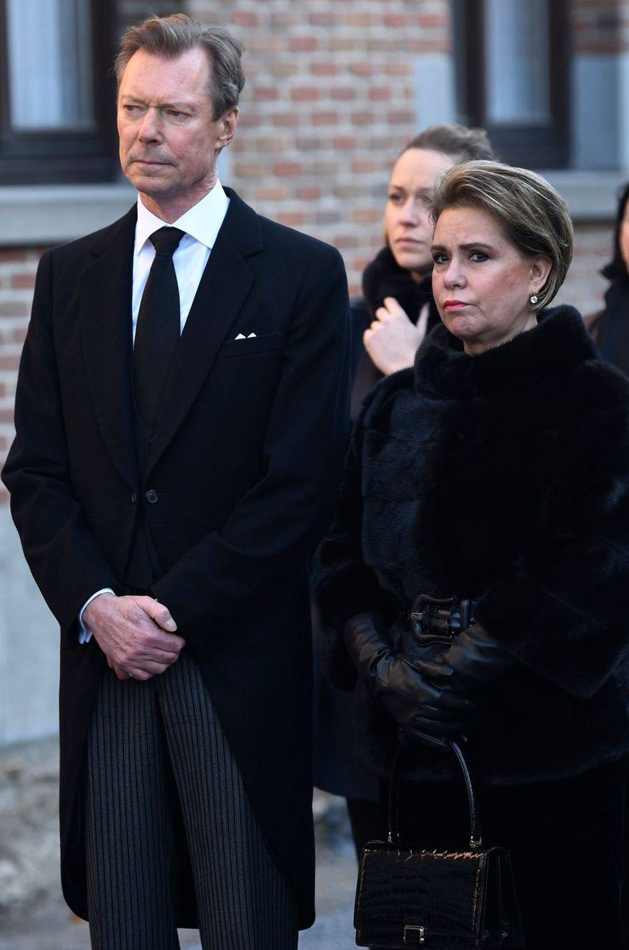 La grande-duchesse Maria Teresa et le grand-duc Henri de Luxembourg, à Beloeil le 16 février 2019